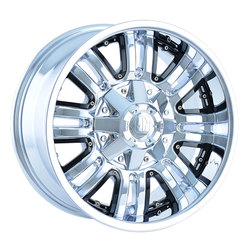 Mayhem Wheels 8070 Assault - Chrome w/Black Facet Rim