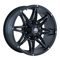 Mayhem Wheels 8090 Rampage - Matte Black Rim