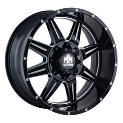 Mayhem Wheels 8100 Monstir - Black w/Milled Spokes Rim - 22x10