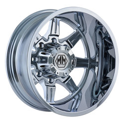 Mayhem Wheels 8101 Monstir Dually - Chrome Rim - 22x8.25
