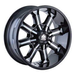 Mayhem Wheels 8102 Beast - Black w/Milled Spokes Rim