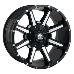Mayhem Wheels 8104 Arsenal - Black w/Milled Spokes Rim