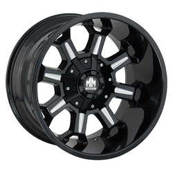 Mayhem Wheels 8105 Combat - Black w/Milled Spokes Rim