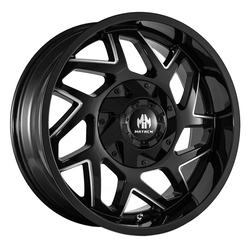 Mayhem Wheels 8106 Hatchet - Gloss Black w/Milled Spokes Rim