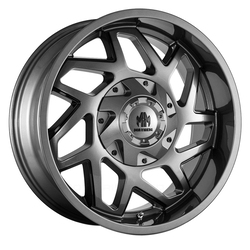 Mayhem Wheels 8106 Hatchet - Gloss Gunmetal w/Black Spokes Rim
