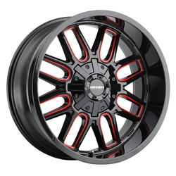 Mayhem Wheels 8107 Cogent - Black w/Prism Red Rim