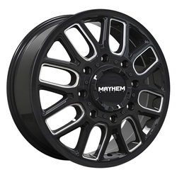 Mayhem Wheels 8107 Cogent Dually - Gloss Black w/Milled Spokes Rim