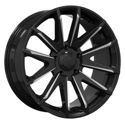 Mayhem Wheels 8109 Crossfire - Gloss Black Milled W/ Dark Tinted Clear Coat Rim