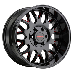 Mayhem Wheels 8110 Tripwire - Black w/Prism Red Rim
