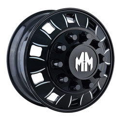 Mayhem Wheels 8180 Bigrig - Black w/Milled Spokes - 24.5x8.25