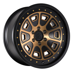 Mayhem Wheels 8301 Flat Iron - Matte Black w/Bronze Tint Rim