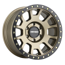Mayhem Wheels 8302 Scout - Matte Gold w/Black Beadlock Rim