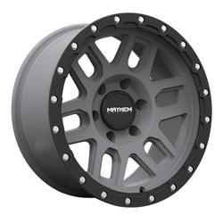 Mayhem Wheels 8304 Delta - Matte Gunmetal with Matte Black Lip Rim