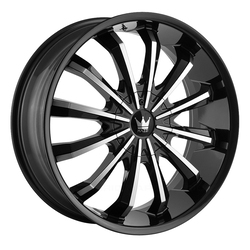 Mazzi Wheels Fusion 341 - Gloss Black/Machined Face Rim - 24x9.5