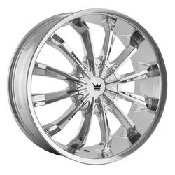 Mazzi Wheels Fusion 341 - Chrome Rim - 24x9.5