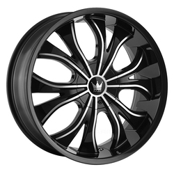 Mazzi Wheels Hustler 342 - Gloss Black/Machined Face
