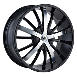 Mazzi Wheels Essence 364 - Black w/Machined Face Rim - 24x9.5