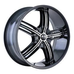 Mazzi Wheels Galaxy 365 - Black w/Machined Face Rim - 18x7.5