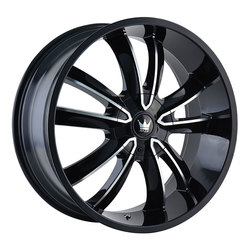 Mazzi Wheels Obsession 366 - Black w/Machined Face Rim - 24x9.5