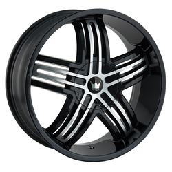 Mazzi Wheels Entice 368 - Black w/Machined Face Rim - 24x9.5