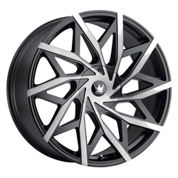 Mazzi Wheels 372 Big Easy - Matte Black w/Dark Tint Rim - 24x9.5