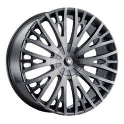 Mazzi Wheels Twist Tie 373 - Matte Black with Machined Dark Tint Rim - 24x9.5