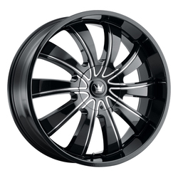 Mazzi Wheels Rolla 374 - Black/Milled Spokes Rim - 24x9.5