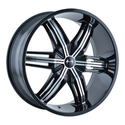 Mazzi Wheels Rush 792 - Black w/Machined Face Rim - 24x9.5