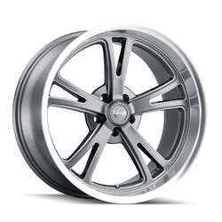 Ridler Wheels 606 - Grey W/ Milled Spokes & Diamond Lip Rim