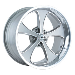 Ridler Wheels 645 - Grey w/Machined Face w/Polished Lip