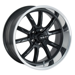 Ridler Wheels 650 - Matte Black w/Polished Lip