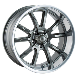 Ridler Wheels 650 - Grey w/Polished Lip