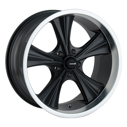 Ridler 651 - Matte Black w/Machined Lip