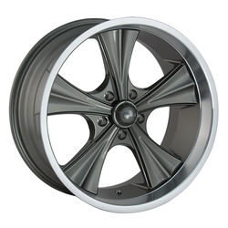 Ridler Wheels 651 - Grey w/Machined Lip