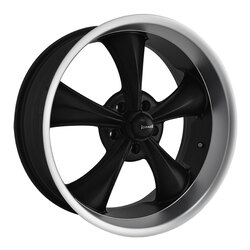 Ridler Wheels 695 - Matte Black w/Machined Lip