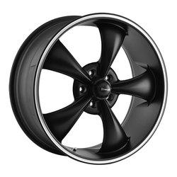Ridler Wheels 695 - Matte Black W/ Machined Ring Rim