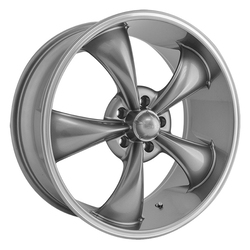 Ridler Wheels 695 - Grey w/Machined Ring