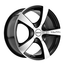 Touren Wheels TR9 3190 - Black/Machined Face/Machined Lip Rim - 16x7