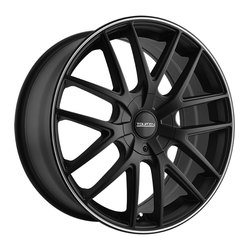 Touren Wheels TR60 3260 - Matte Black/Machined Ring Rim - 16x7