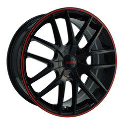 Touren Wheels TR60 3260 - Black/Red Ring Rim - 16x7