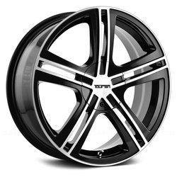 Touren Wheels TR62 3262 - Black/Machined Face/Machined Lip Rim - 17x7