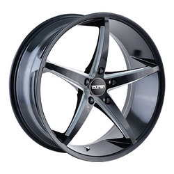Touren Wheels TR70 3270 - Black/Milled Spokes Rim - 18x8