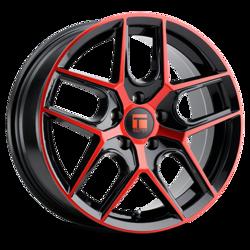Touren Wheels TR79 3279 - Gloss Black/Red Tint Rim