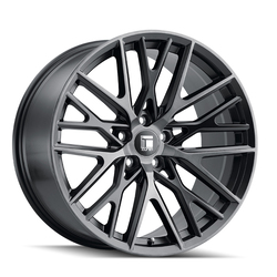 Touren Wheels TR91 3291 - Brushed Matte Blaxk W/ Dark Tint Rim - 20x10.5