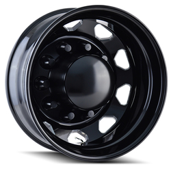 Ionbilt Wheels IBO2 - Black/Milled Spokes - 22.5x8.25