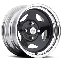 U.S. Wheel Star 021 - Black/Chrome Rim - 16x10