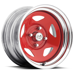 U.S. Wheel Star 021 - Red/Chrome Rim - 16x10