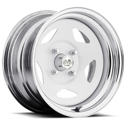 U.S. Wheel Star 021 - White/Chrome Rim - 16x10