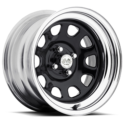 U.S. Wheel Daytona 022 - Black/Chrome Rim - 16x10