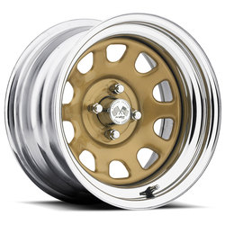 U.S. Wheel Daytona 022 - Gold/Chrome Rim - 16x10